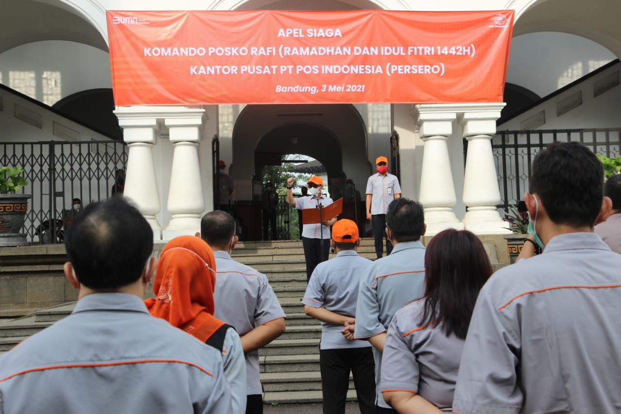 Pos Indonesia Gelar Apel Siaga Nasional Pos Komando RAFI 2021
