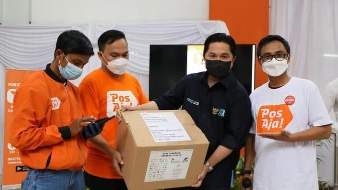 Menteri BUMN Kunjungi Kantor Pos Bogor, Pos Indonesia Perkenalkan New Platform Layanan Digital Kurir dan Jasa Keuangan