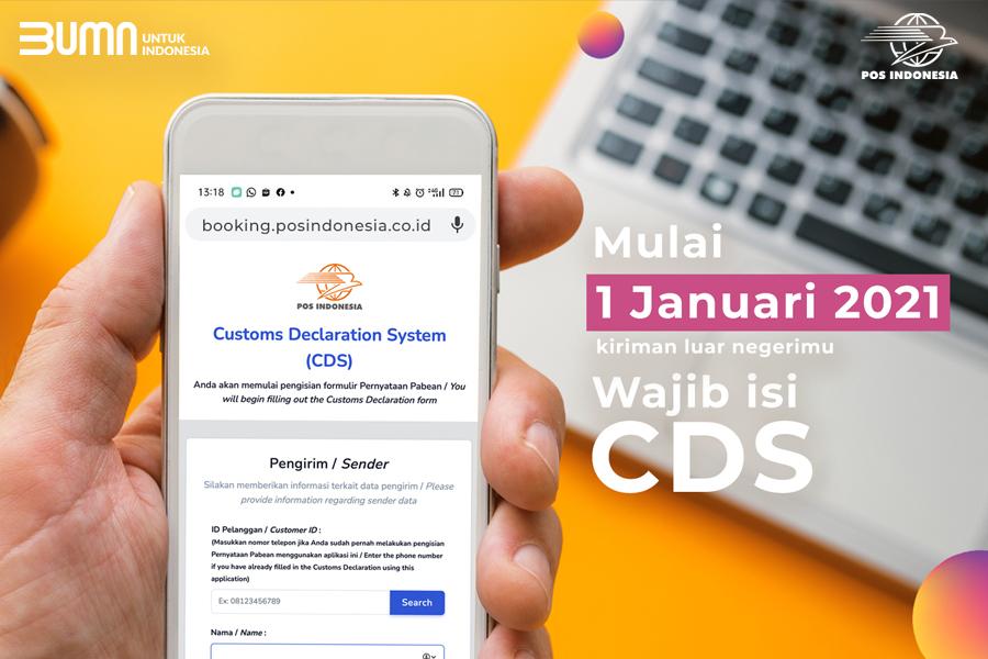 Kirim Paket Ke Luar Negeri lewat Pos Indonesia Wajib Isi Custom Declaration System