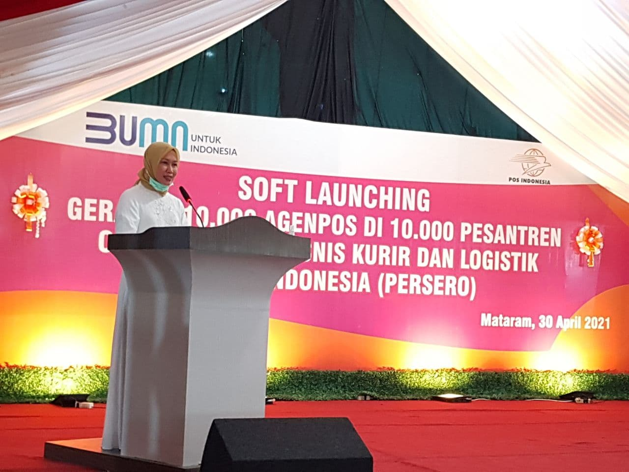Pos Indonesia Garap Kawasan Indonesia Timur, Bidik Ratusan Pesantren di Mataram